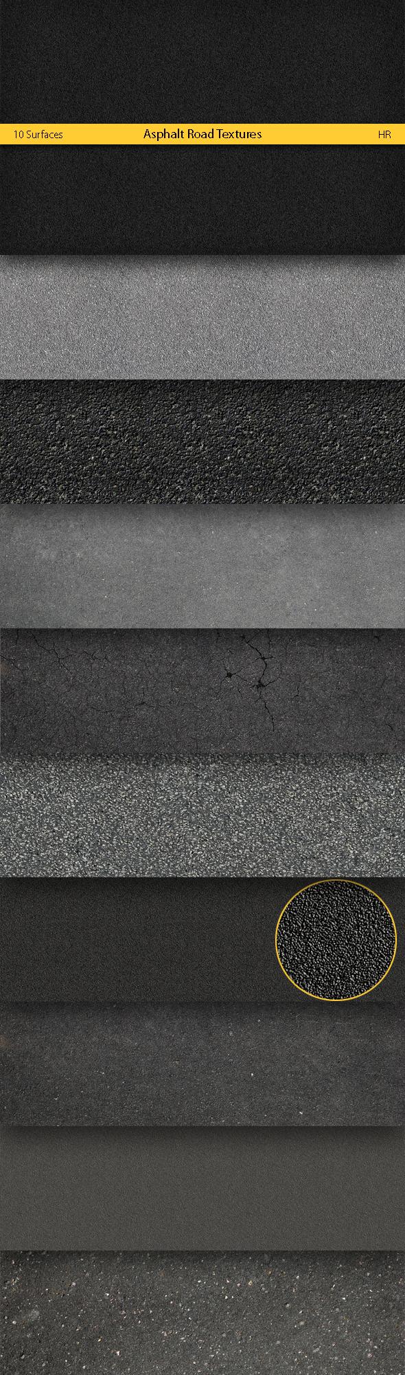 Asphalt Road Textures