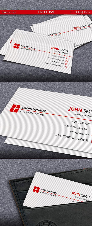 Line Design Business Card