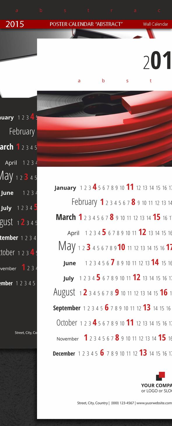 Poster Calendar Abstract 2015