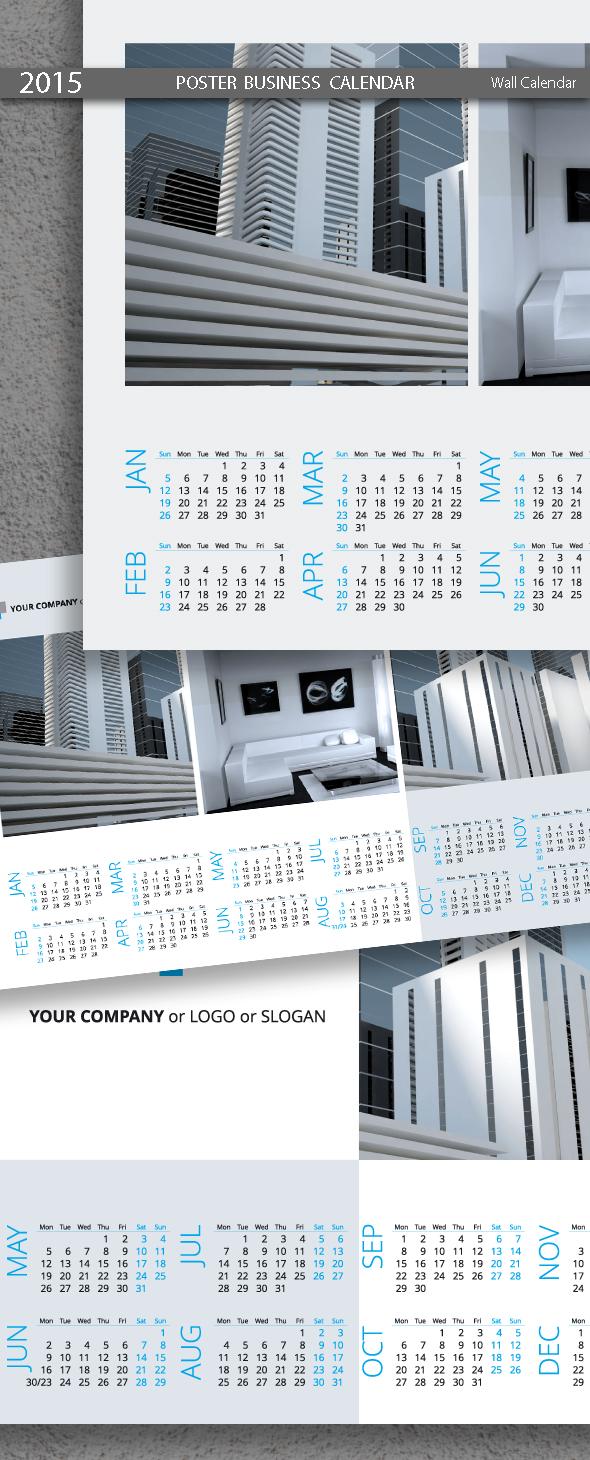 Poster Business Calendar 2015
