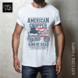 American Chopper King of Road Biker T-shirt