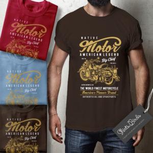 American Legend Motor Biker T-shirt