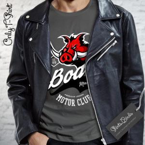 Boars American Legend Motor Club Mad Wheels Biker T-shirt