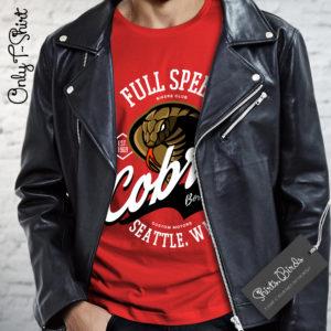 Cobra American Biker Club Seattle Born to Ride T-shirt