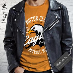 Eagle American Motor Club Detroit Roud Riders Biker T-shirt