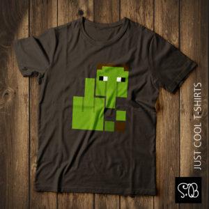 Minecraft Zombie Resident Horror T-shirt