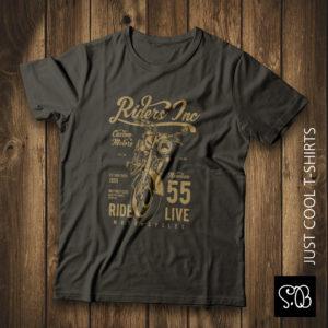 Riders Inc Custom Motors Motorcycle Vintage T-shirt