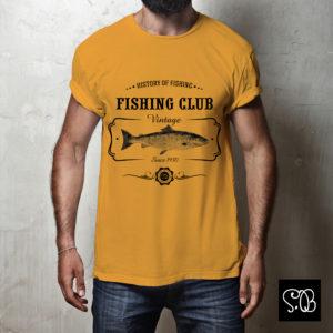 Fishing Club History of Fishing Vintage T-shirt