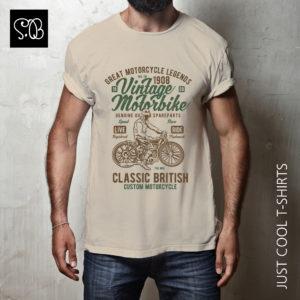 Vintage Motorbike Classic British Biker T-shirt