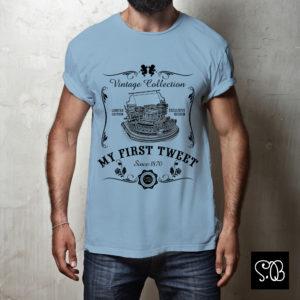 Typewriter My First Tweet Vintage Collection T-shirt