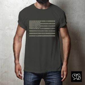 Vintage USA Flag Cool T-shirt