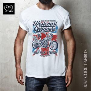 Westcoast Choppers Custom Motorcycle Biker T-shirt