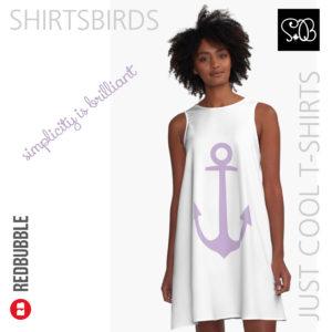 Anchor | Woman Sea T-shirt | Crocus Petal Color