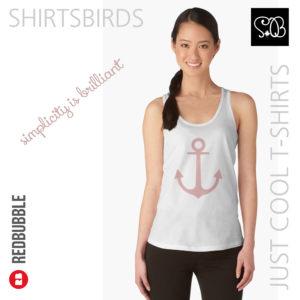 Anchor | Woman Sea T-shirt | Mellow Rose Color