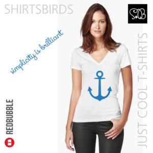 Anchor | Woman Sea T-shirt | Nebulas Blue Color