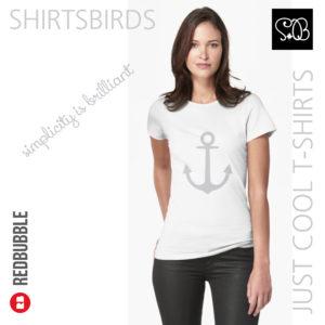Anchor | Woman Sea T-shirt | Quiet Gray Color