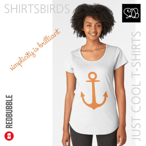 Anchor | Woman Sea T-shirt | Russet Orange Color