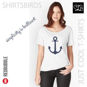 Anchor   Woman Sea T-shirt   Sargassa Sea Color