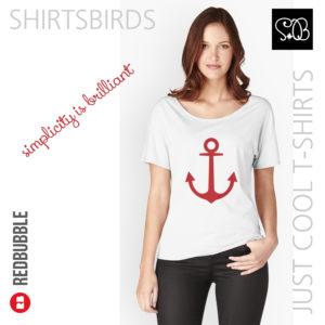 Anchor   Woman Sea T-shirt   Valiant Poppy Color